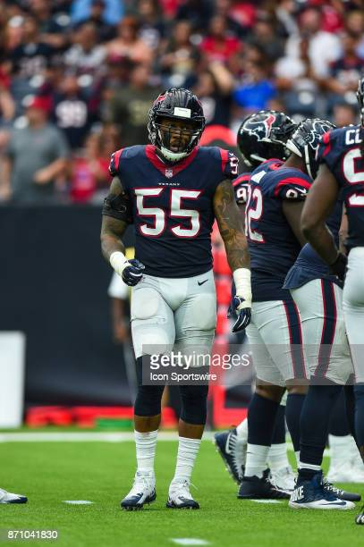 Houston Texans inside linebacker Benardrick McKinney gets ready for a play during the football game between the Indianapolis Colts and the Houston...