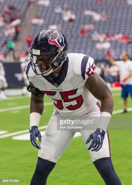 Houston Texans inside linebacker Benardrick McKinney warms up during the NFL game between the Jacksonville Jaguars and Houston Texans on September 10...