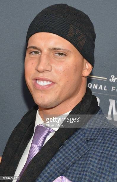 Houston Texans inside linebacker Brian Cushing attends the 3rd Annual NFL Honors at Radio City Music Hall on February 1 2014 in New York City