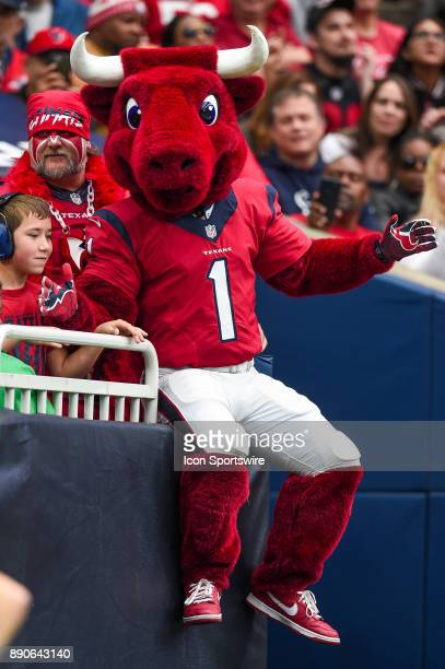 Houston Texans mascot Toro interacts with the fans during the football game between the San Francisco 49ers and the Houston Texans on December 10...