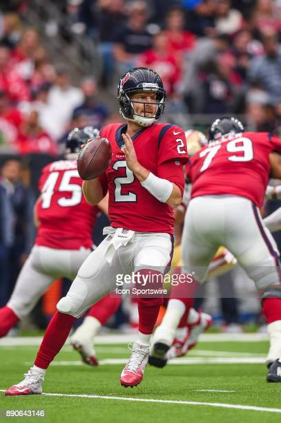 Houston Texans quarterback TJ Yates gets ready to throw during the football game between the San Francisco 49ers and the Houston Texans on December...