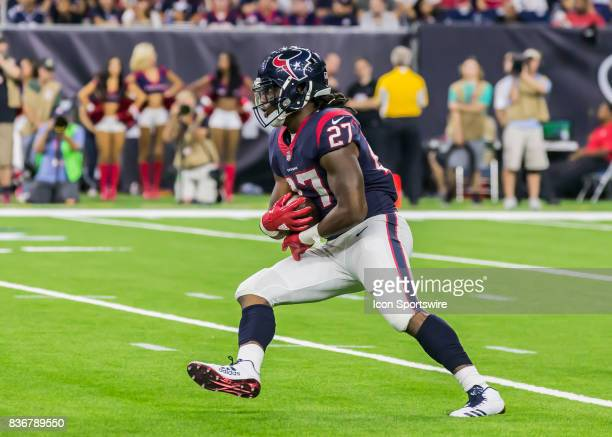 Houston Texans running back D'Onta Foreman carries the ball during the NFL preseason game between the New England Patriots and Houston Texans on...