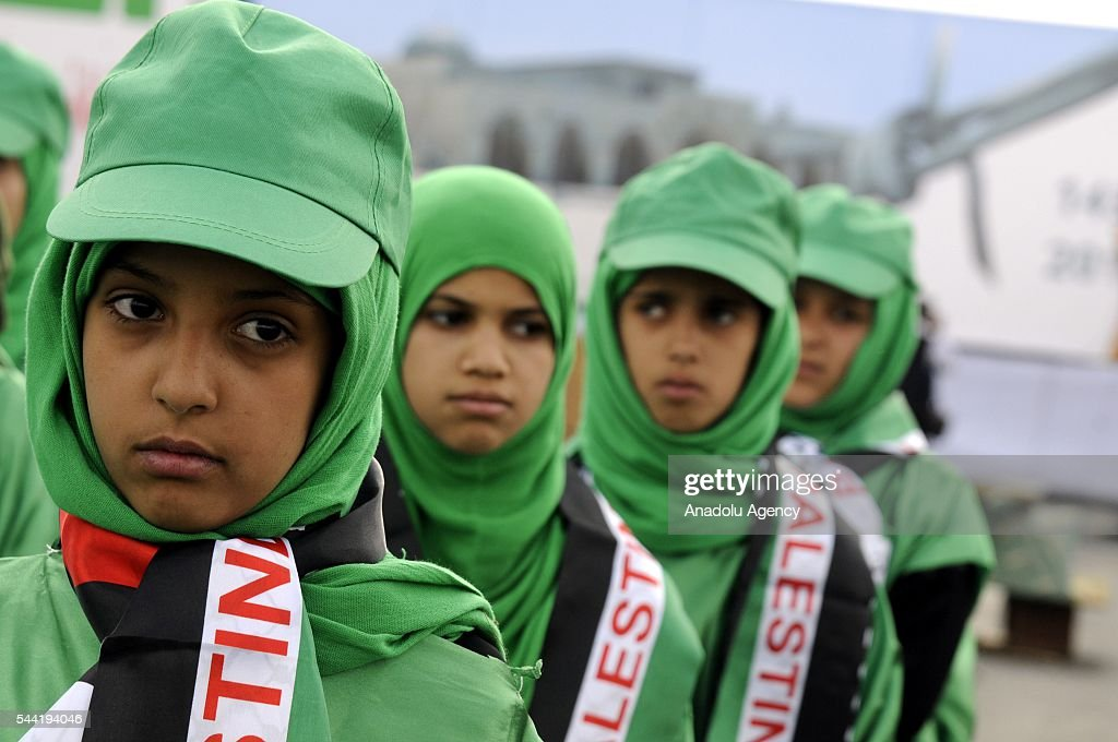 Houthis attend a rally to mark the International Quds Day in Sanaa, Yemen on July 1, 2016.