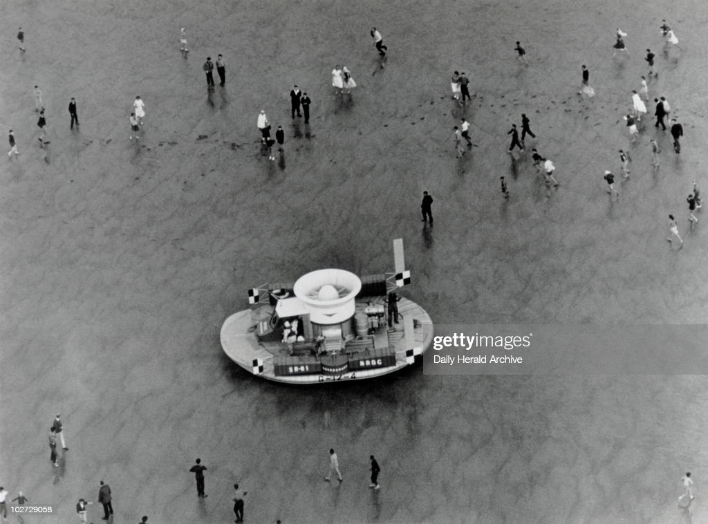 N1 hovercraft at Calais France 24 July 1959 ' The Saunders Roe experimental hovercraft the SRN1 was taken to Calais to attempt a cross channel trip...