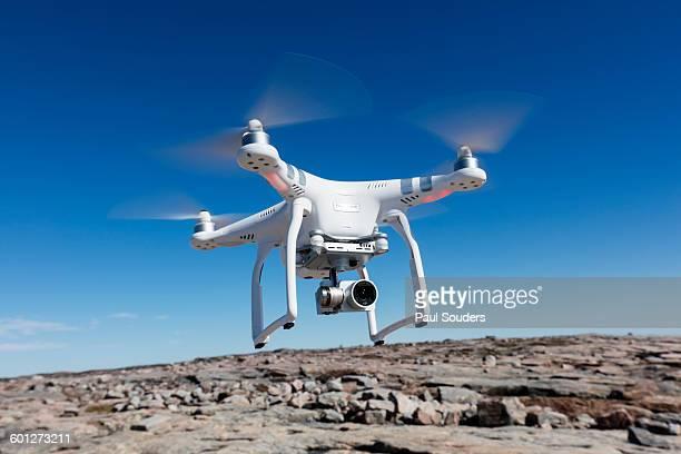 Hovering Drone, Nunavut Territory, Canada