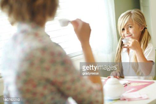 How do you like your tea, mom?