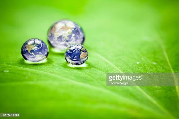 Wie viele earths Wir haben? Planet Erde waterdrops