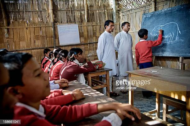 'How many of you have seen a tiger' asks the teacher in a village school near Kaziranga National Park Almost everyone in the class raises their hands...