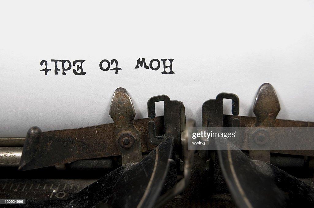 How to Edit upside down on vintage typewriter