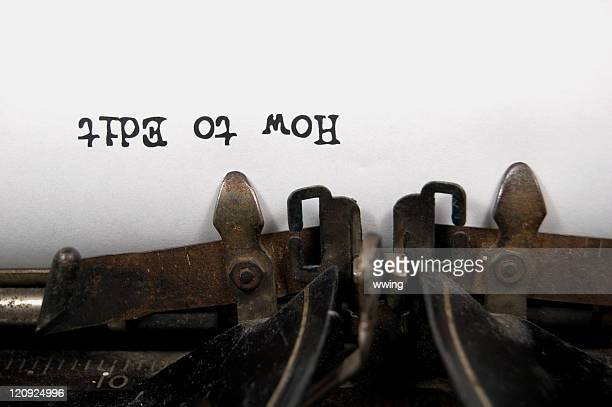 How to Edit upside down on vintage typewriter