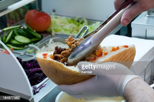 How to make a kebab : Stock Photo