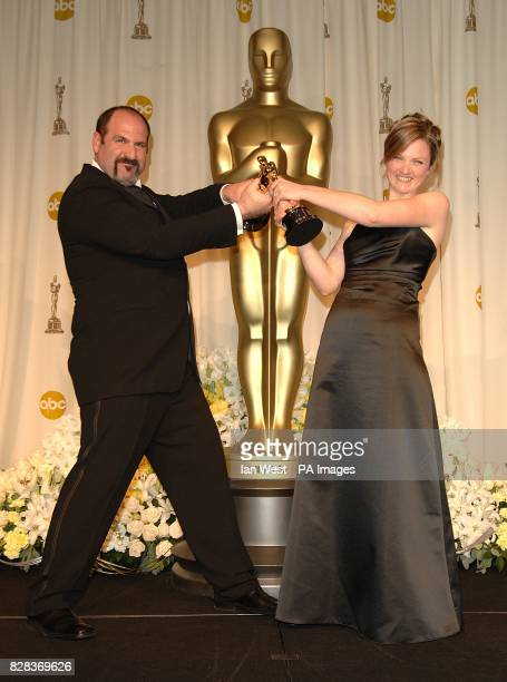 Howard Berger and Tami Lane receive the award for Achievement in Makeup for The Chronicles of Narnia The Lion the Witch and the Wardrobe