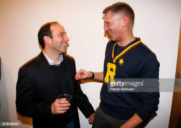 Howard Bernstein and Erwin Olaf attend ERWIN OLAF Opening Reception at Hasted Hunt Kraeutler on January 28 2010 in New York