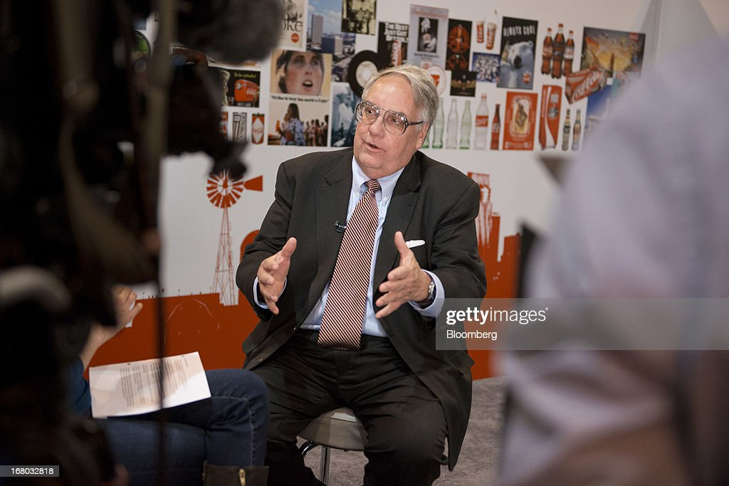 Howard Buffett, son of Warren Buffett, chairman and chief executive officer of Berkshire Hathaway Inc., speaks during a Bloomberg Television interview at the Berkshire shareholders meeting in Omaha, Nebraska, U.S., on Saturday, May 4, 2013. Warren Buffett's Berkshire Hathaway Inc.'s cash hoard hit a record as first-quarter profit jumped 51 percent on gains from equity-linked derivatives and insurance operations. Photographer: Daniel Acker/Bloomberg via Getty Images