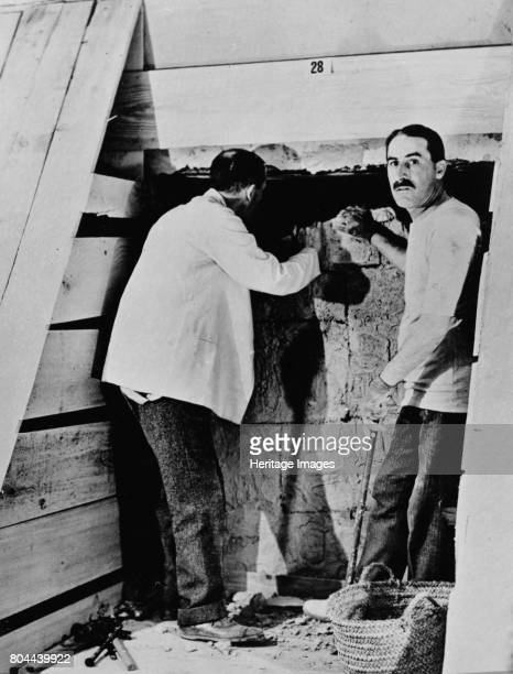 Howard Carter and a colleague excavating a tomb in the Valley of the Kings Egypt 1922 Carter's discovery of Tutankhamun's tomb in 1922 was one of the...