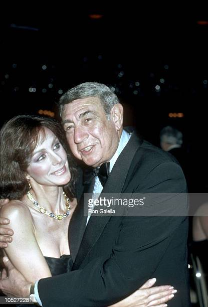 Howard Cosell and Peggy Fleming during Peggy Fleming Honored At Annual MS Dinner of Champions at Waldorf Astoria in New York City NY United States