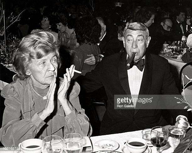 Howard Cosell and wife during Peggy Fleming Honored At Annual MS Dinner of Champions at Waldorf Astoria in New York City NY United States