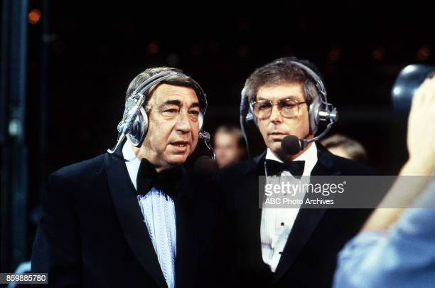 Howard Cosell Don Chevrier at the Houston Astrodome