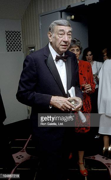 Howard Cosell during Friars Club Tribute To Diana Ross at Waldorf Astoria in New York City NY United States