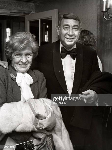 Howard Cosell wife during Dinner of Champions To Benefit Benefit Multiple Sclerosis Society at Waldorf Astoria in New York City NY United States