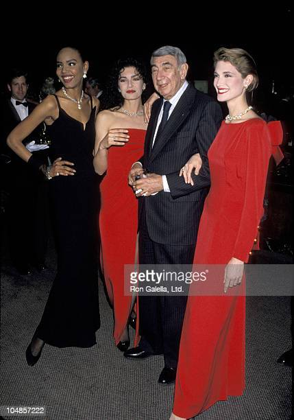 Howard Cosell with models during Tiffany Co Hosts A Gala at Tiffany Co Store on 5th Ave in New York City NY United States