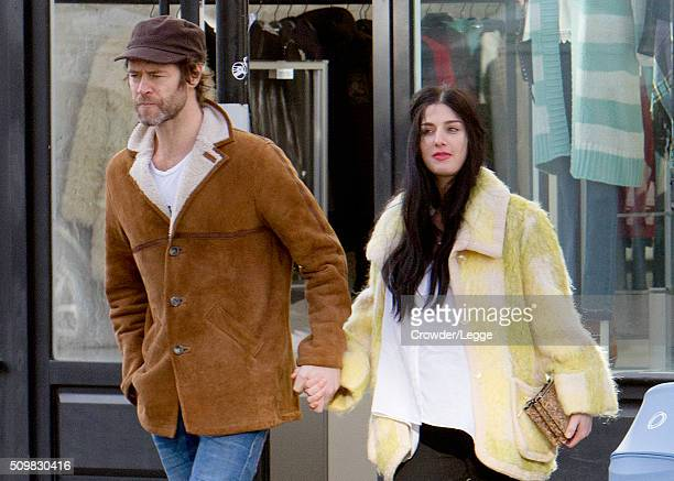 Howard Donald and wife Katie Halil are spotted out with their son Bowie on February 09 2016 in London England