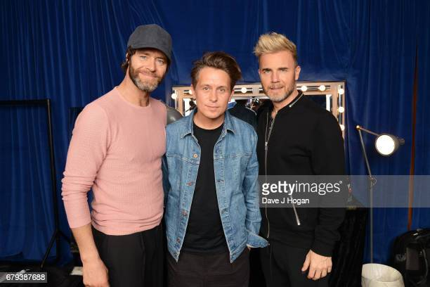 Howard Donald Mark Owen and Gary Barlow of Take That at the opening night of Wonderland Live 2017 at Genting Arena on May 5 2017 in Birmingham United...