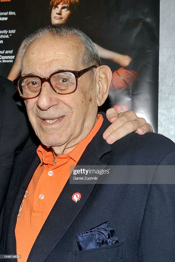 <a gi-track='captionPersonalityLinkClicked' href=/galleries/search?phrase=Howard+Garfinkel&family=editorial&specificpeople=9891925 ng-click='$event.stopPropagation()'>Howard Garfinkel</a> attends the 'Long Shot: The Kevin Laue Story' New York Premiere at Quad Cinema on October 26, 2012 in New York City.