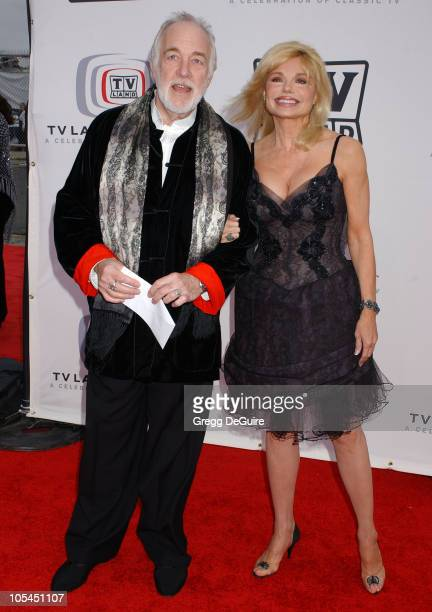 Howard Hesseman and Loni Anderson during 3rd Annual TV Land Awards Arrivals at Barker Hangar in Santa Monica California United States