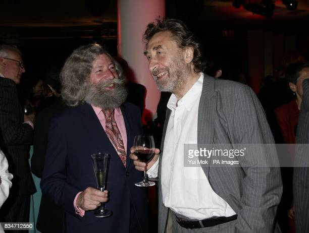 Howard Jacobson and guest during the BBC Four Samuel Johnson Prize for NonFiction awards at the South Bank Centre London SE1