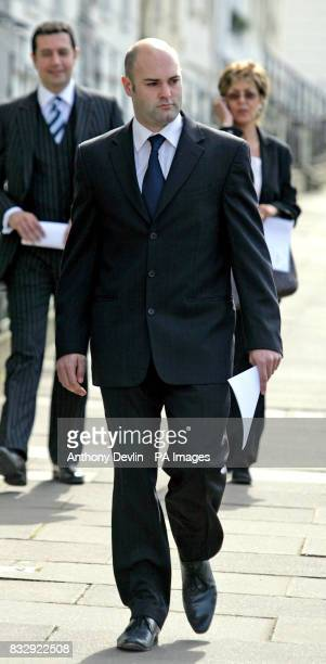 Howard Johnston arrives to hold a press conference in Cheltenham after his expartner Natallie Evans lost her fight at the European Court of Human...