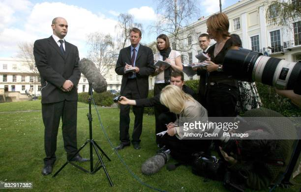 Howard Johnston speaks to the media in Cheltenham after his expartner Natallie Evans lost her fight at the European Court of Human Rights to become a...