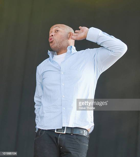 Howard Jones of Killswitch Engage performs on stage on the first day of Download Festival at Donington Park on June 11 2010 in Derby England