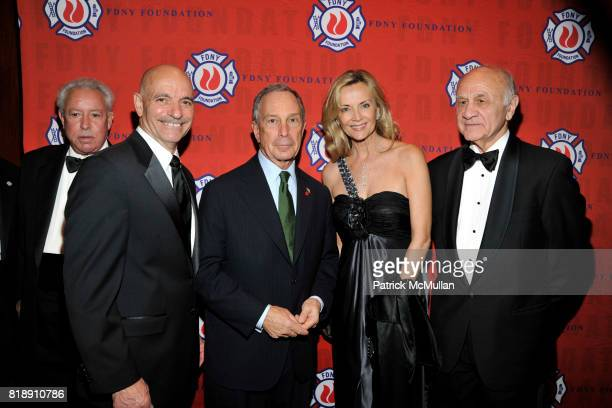 Howard Koeppel Salvatore J Cassano Michael Bloomberg Bonnie Pfeiffer Evans and Nicholas Scoppetta attend FDNY Foundation Dinner Honoring LOUIS R...
