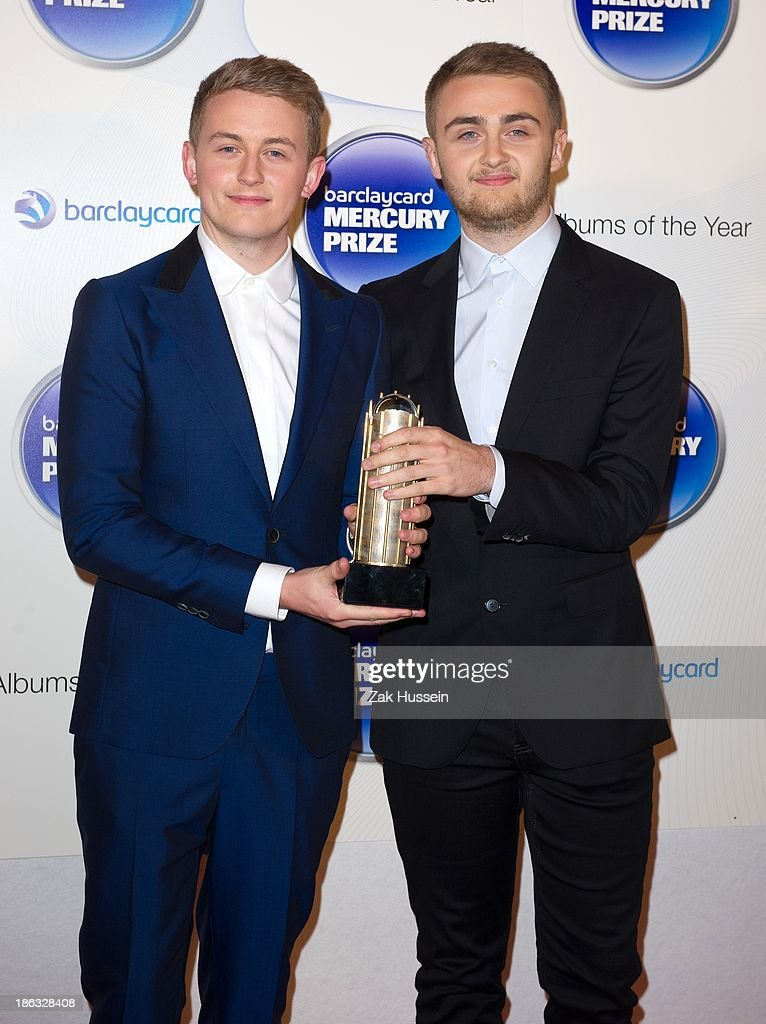 <a gi-track='captionPersonalityLinkClicked' href=/galleries/search?phrase=Howard+Lawrence&family=editorial&specificpeople=10488164 ng-click='$event.stopPropagation()'>Howard Lawrence</a> and Guy Lawrence of Disclosure attend the Barclaycard Mercury Prize at The Roundhouse on October 30, 2013 in London, England.