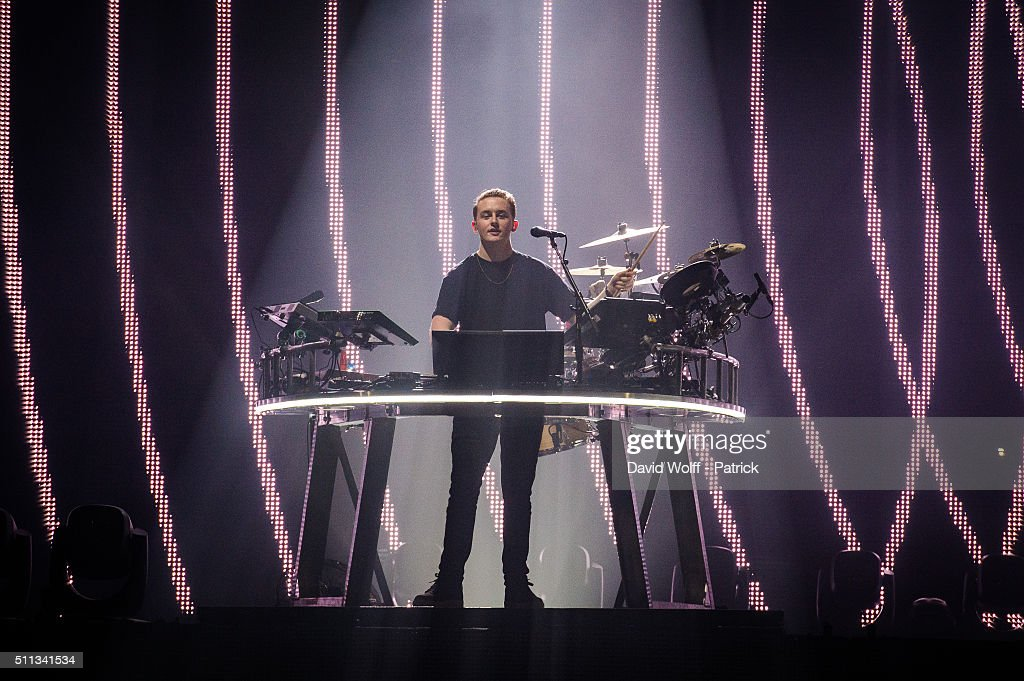 Howard Lawrence from Disclosure performs at Zenith de Paris on February 19 2016 in Paris France