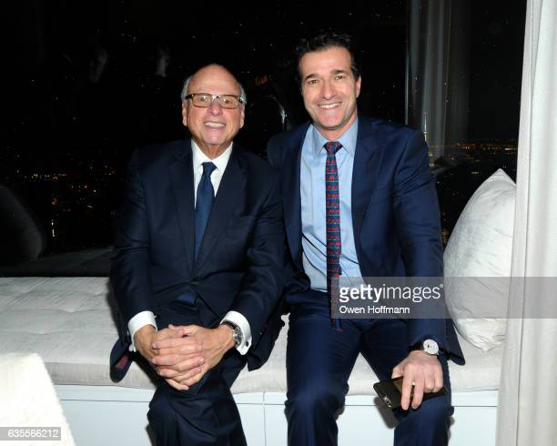Howard Lorber and Guest attend 432 Park Avenue Reveal of the Penthouse Model Residence Designed by Kelly Behun at 432 Park Avenue on February 15 2017...