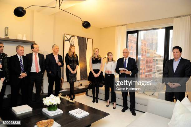 Howard Lorber attends 11 Beach Model Residence Unveiling Event at 11 Beach Street on March 7 2017 in New York City