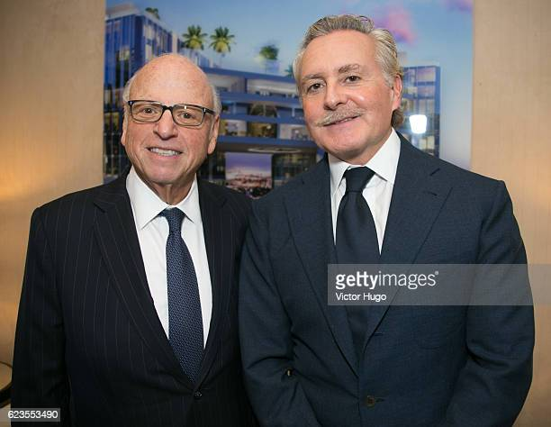 Howard Lorber Shahab Karmely attend Preview of One River Point by Rafael Vinoly at 980 Madison Avenue on November 15 2016 in New York City