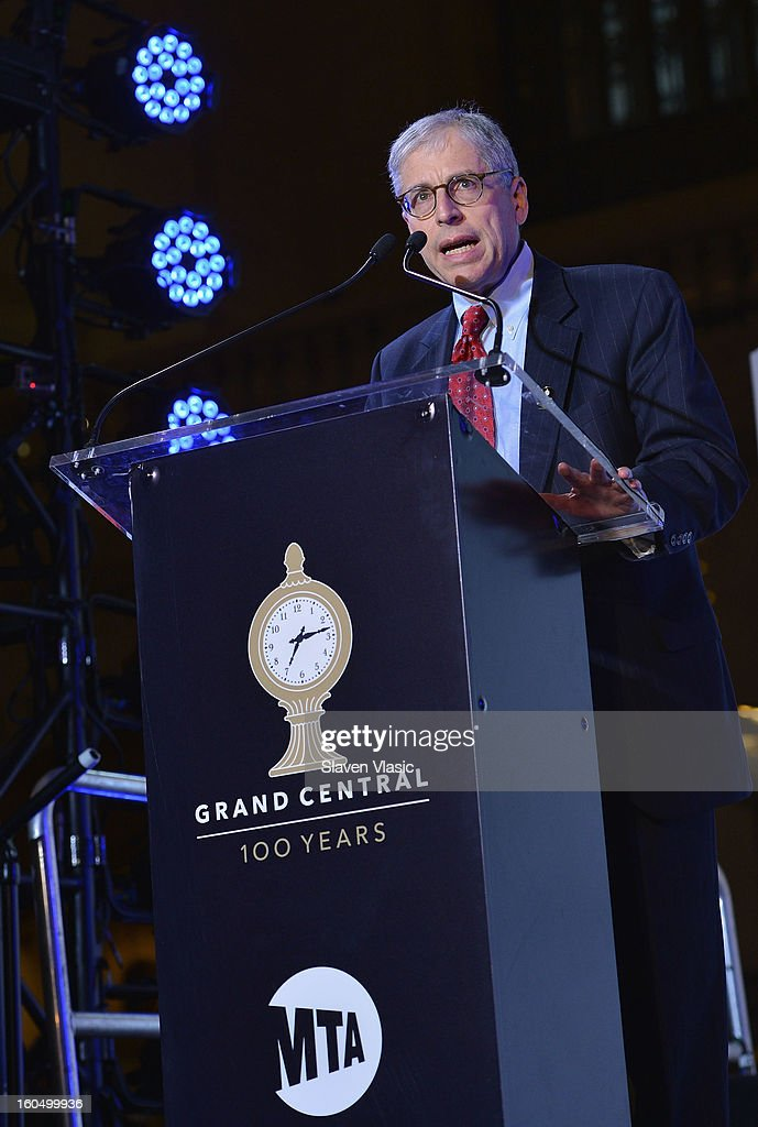 Howard Permut, President, MTA Metro-North Railroad attends Grand Central Terminal 100th Anniversary Celebration at Grand Central Terminal on February 1, 2013 in New York City.