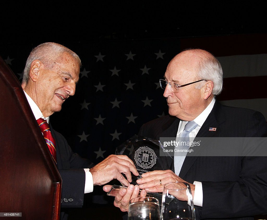 Howard Rubenstein and <a gi-track='captionPersonalityLinkClicked' href=/galleries/search?phrase=Dick+Cheney&family=editorial&specificpeople=125149 ng-click='$event.stopPropagation()'>Dick Cheney</a> attend the 2013 Federal Law Enforcement Foundation Luncheon at The Waldorf=Astoria on November 22, 2013 in New York City.
