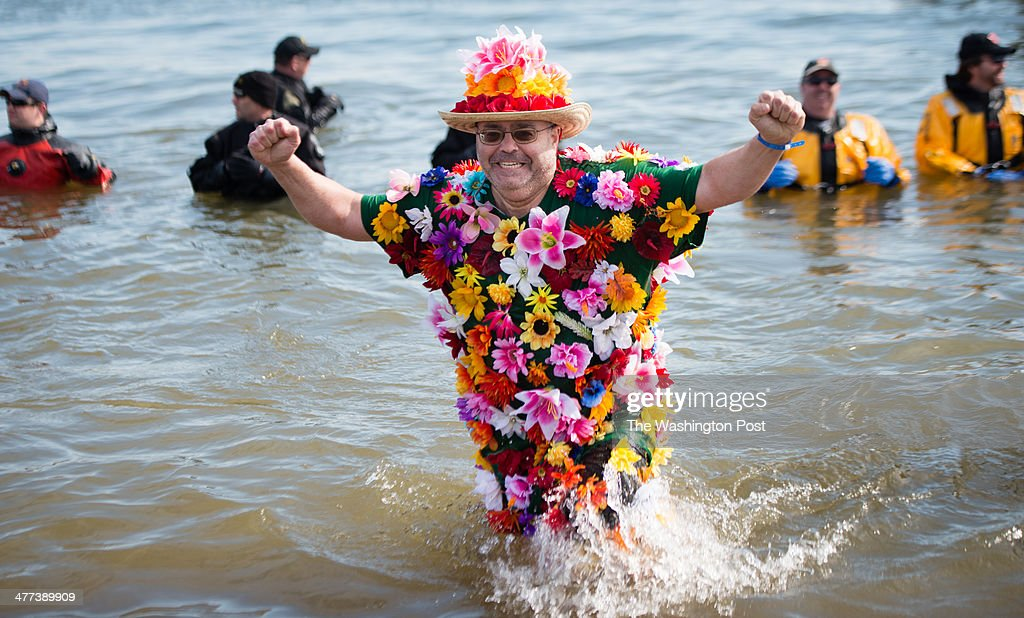 Howard Smiga of Germantown participated in the plunge for the first time in a flower costume The 18th Annual Polar Bear Plunge was held March 8 2014...