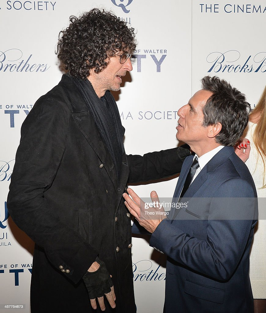 Howard Stern and Ben Stiller attend the 20th Century Fox with The Cinema Society Brooks Brothers screening of 'The Secret Life Of Walter Mitty' at...