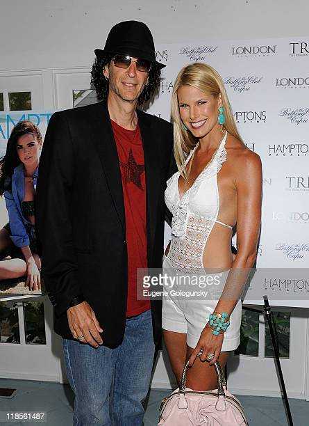 Howard Stern and Beth Ostrosky attend Hamptons Magazine's celebration of cover stars Beth Ostrosky Stern and Katie Lee at The Bathing Club at The...