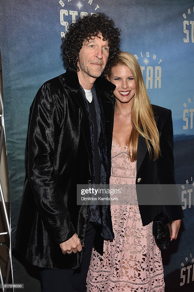 Howard Stern (L) and Beth Ostrosky Stern attend 'Bright Star' Opening Night on Broadway at The Cort Theatre on March 24, 2016 in New York City.