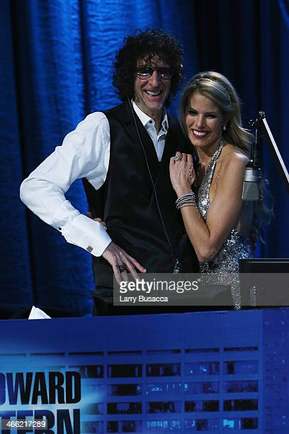 Howard Stern and Beth Ostrosky Stern attend 'Howard Stern's Birthday Bash' presented by SiriusXM produced by Howard Stern Productions at Hammerstein...