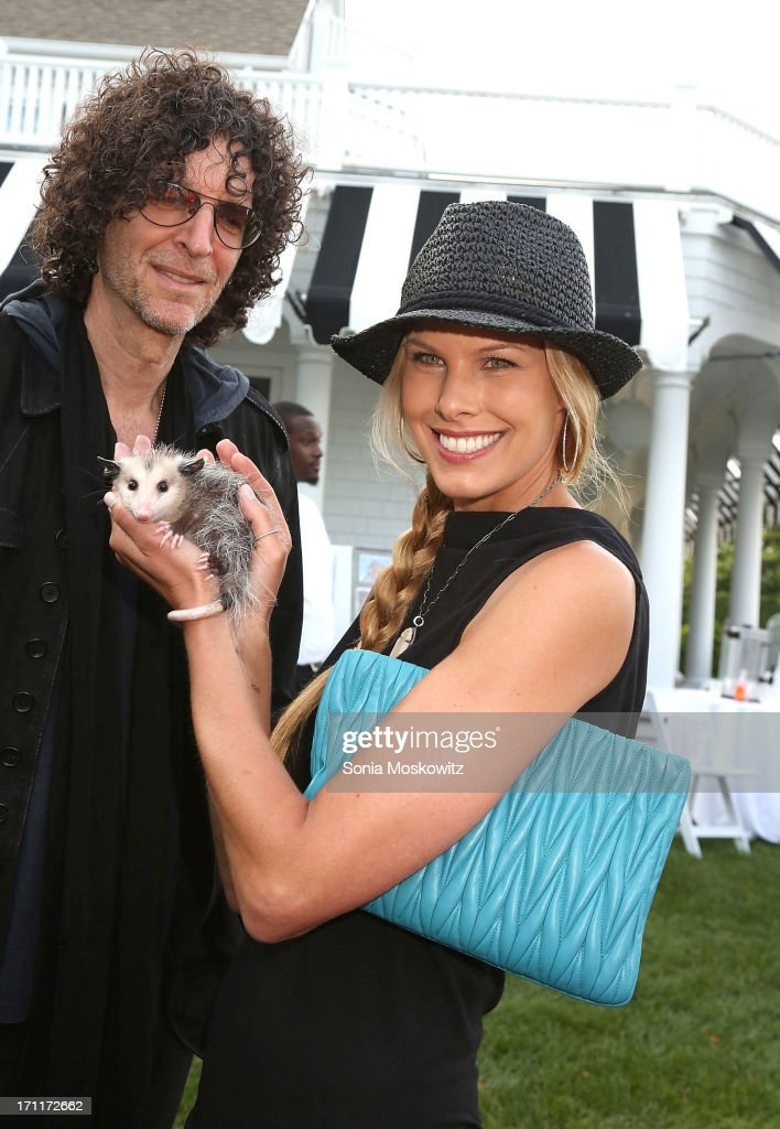 Howard Stern and Beth Stern attend Get Wild Event Benefiting Evelyn Alexander Wildlife Rescue Center at Private Residence on June 22 2013 in...