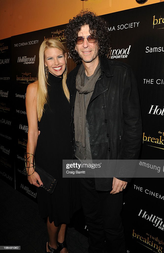 <a gi-track='captionPersonalityLinkClicked' href=/galleries/search?phrase=Howard+Stern+-+Media+Personality&family=editorial&specificpeople=211543 ng-click='$event.stopPropagation()'>Howard Stern</a> and Beth Stern attend the screening of 'The Twilight Saga: Breaking Dawn Part 2' hosted by The Cinema Society with The Hollywood Reporter & Samsung Galaxy on November 15, 2012 in New York City.