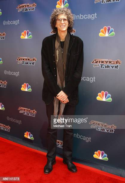 Howard Stern arrives at 'America's Got Talent' Party held at Dolby Theatre on April 22 2014 in Hollywood California