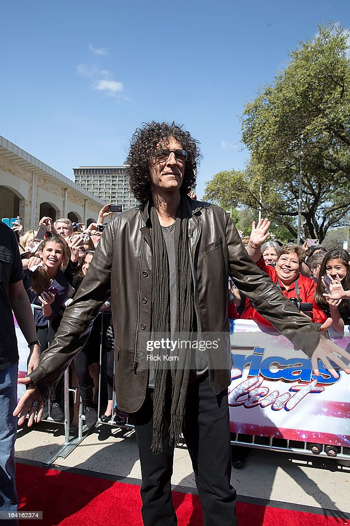 <a gi-track='captionPersonalityLinkClicked' href=/galleries/search?phrase=Howard+Stern+-+Media+Personality&family=editorial&specificpeople=211543 ng-click='$event.stopPropagation()'>Howard Stern</a> arrives at the 'America's Got Talent' Season 8 auditions at the Lila Cockrell Theatre on March 20, 2013 in San Antonio, Texas.